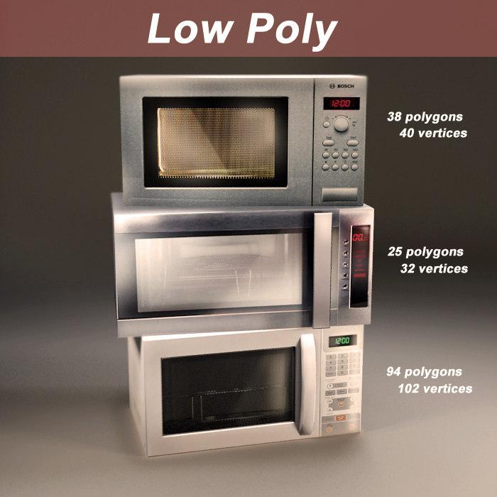 pack microwaves 3d model