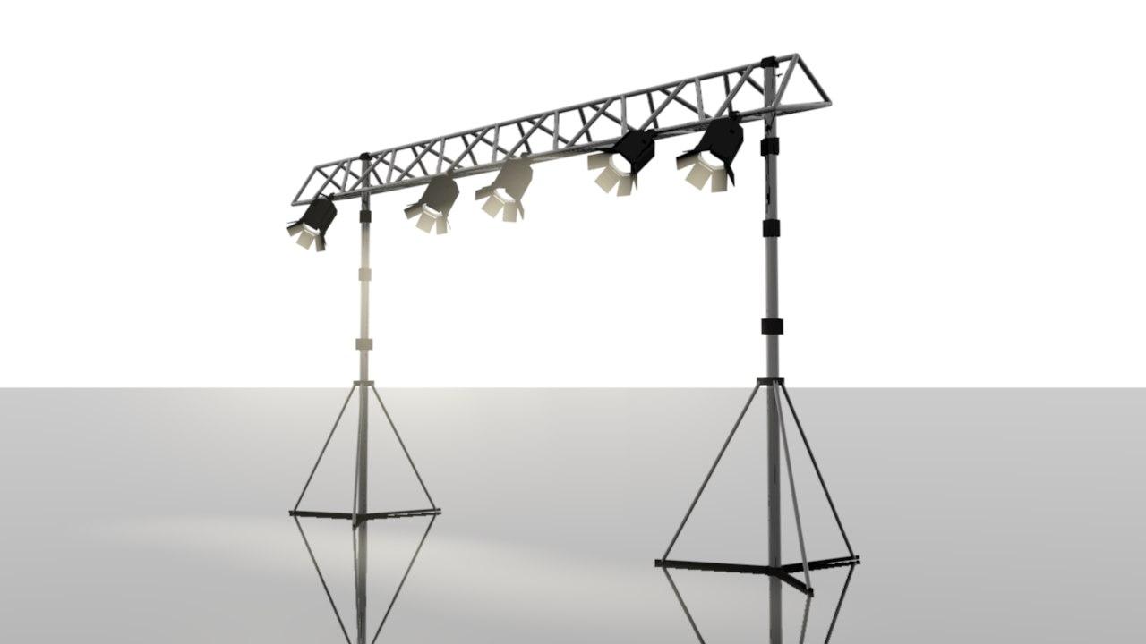3d model studio lights