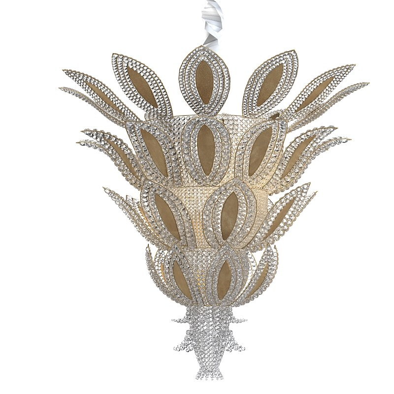 3d pineapple art deco model