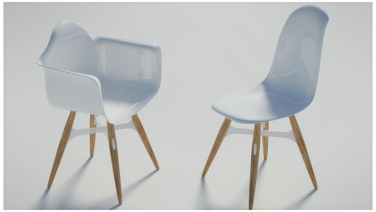 3d max zigzag armchair chair