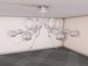 modern ceiling light c4d