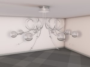 modern ceiling light c4d