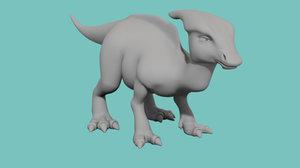 3d corythosaurus model