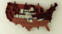 N American Book Shelf
