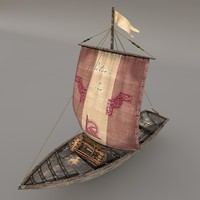 c4d fishing sailboat
