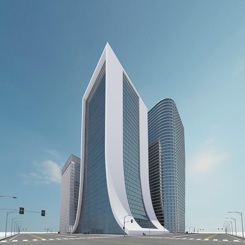new city block 13 3d model