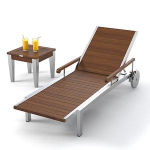 sunlounger schonhuber franchi 3d model