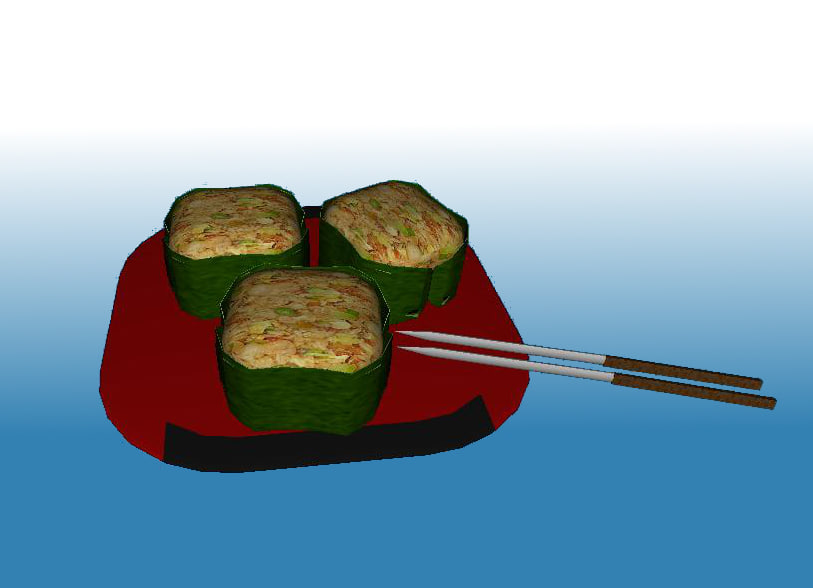 ese sushi 3d model