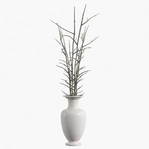 realistic vase branches 3d 3ds