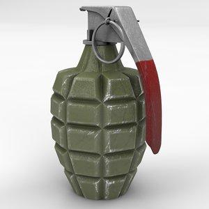 mk2 grenade mk 2 c4d