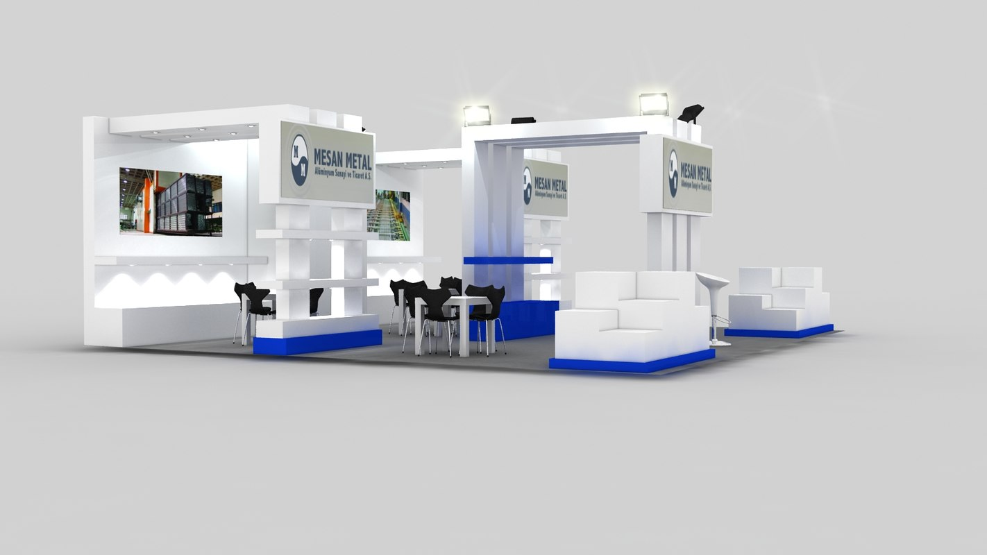 3d Exhibition Design Software : Max mesan exhibition stand design