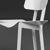 3d origami chair