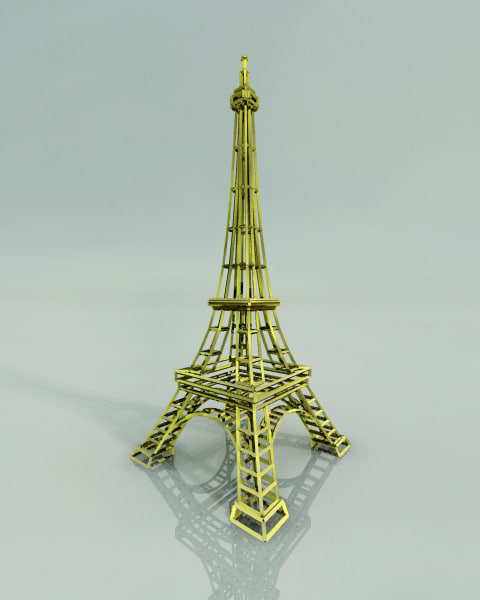 free eiffel tower 3d model