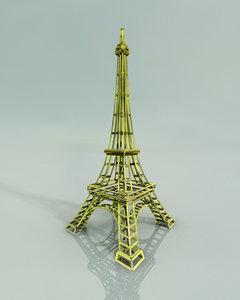 free eiffel tower 3d model