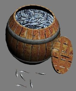 max wooden barrel fishes