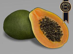 papaya fruit 3d model