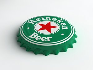3ds max heineken beer bottle tin