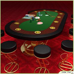 3d model casino 1 poker cards