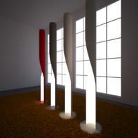 3d model kundalini evita floor lamp