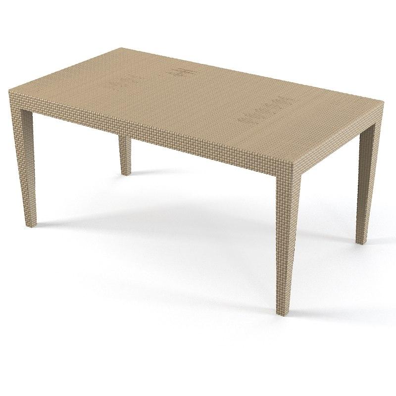 mahler dining table 3d model