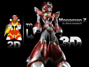 megaman 3d model