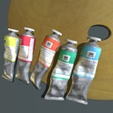 Paint tubes and palette