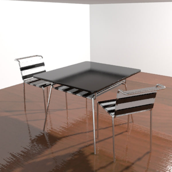 table chair set 3d max
