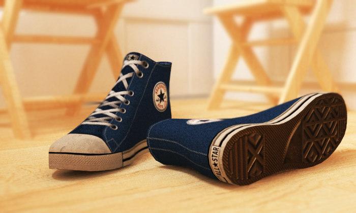 allstar shoes 3d max