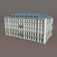Apartment House #92 Low Poly 3d Model