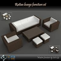 Rattan lounge furniture set_collection