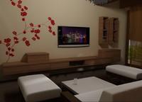 3d model of living furnitures 03