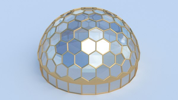 hexagon dome model