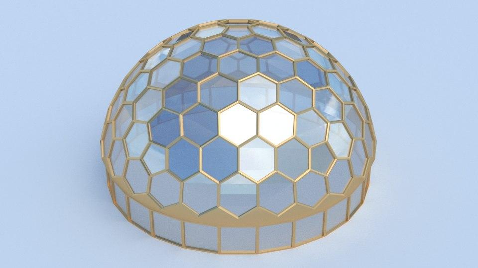 hexagon dome model