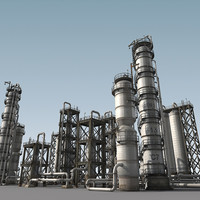 refinery towers 3d max