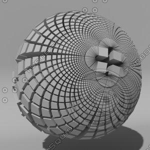 voronoi tessellation 3d model