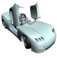car door 3d max