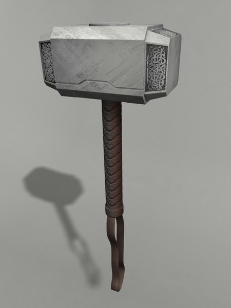 thor s hammer 3ds