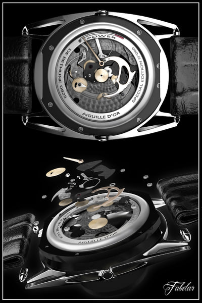 3d bethune watch mechanism wristwatch model