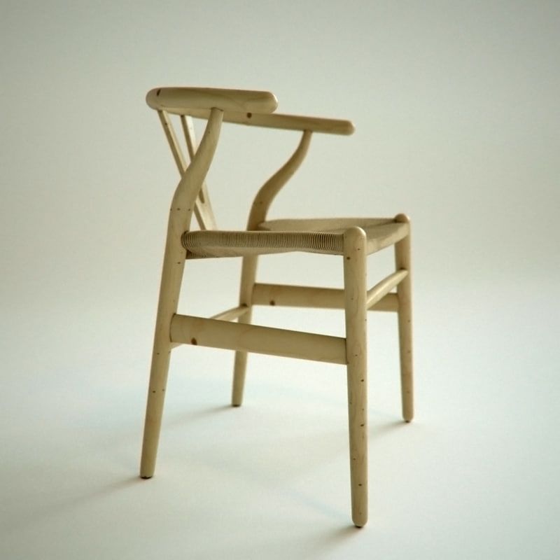 3ds max wishbone chair hans wegner