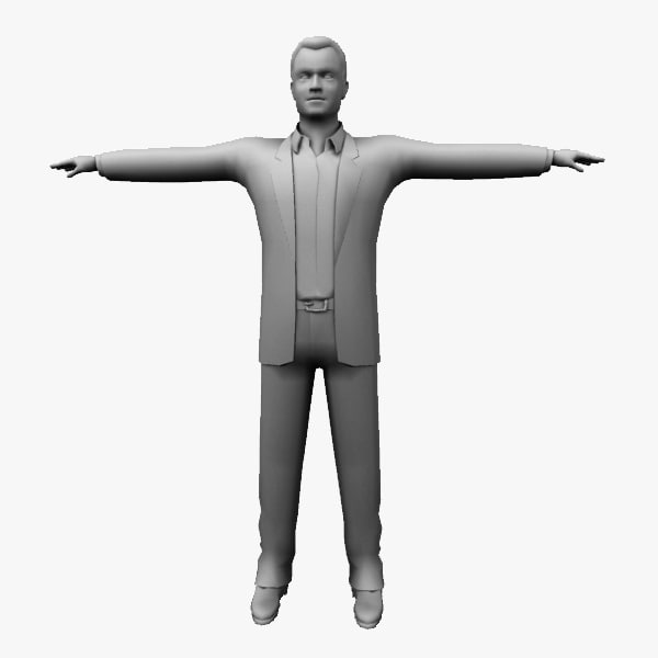3ds max business man