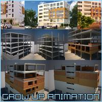 grow building architecture 3d max