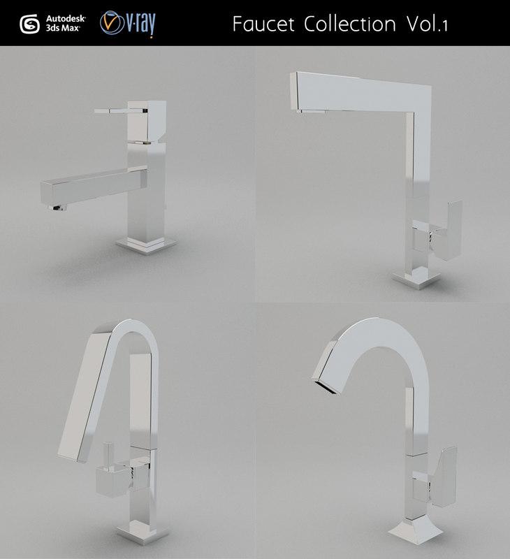3d faucet modeled