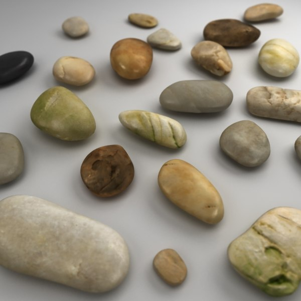 3d model river rocks