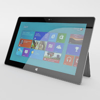 3d photorealistic microsoft surface