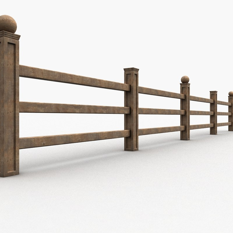 Wood fence 3d max for 3d fence