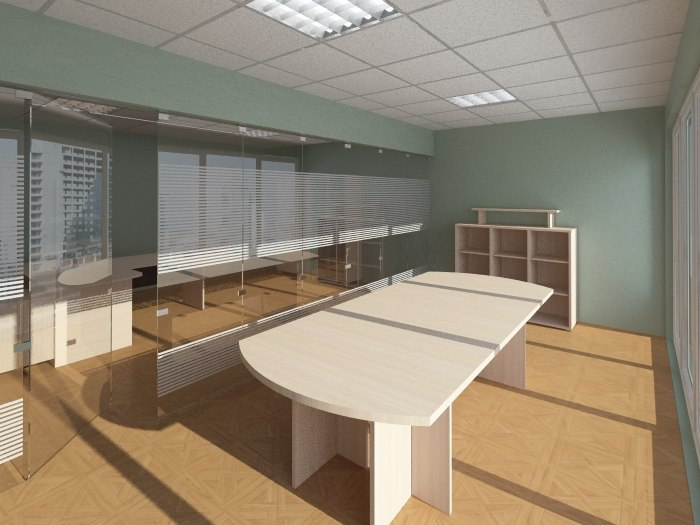 interior office 3d obj