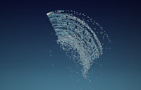 liquid splash 3d max