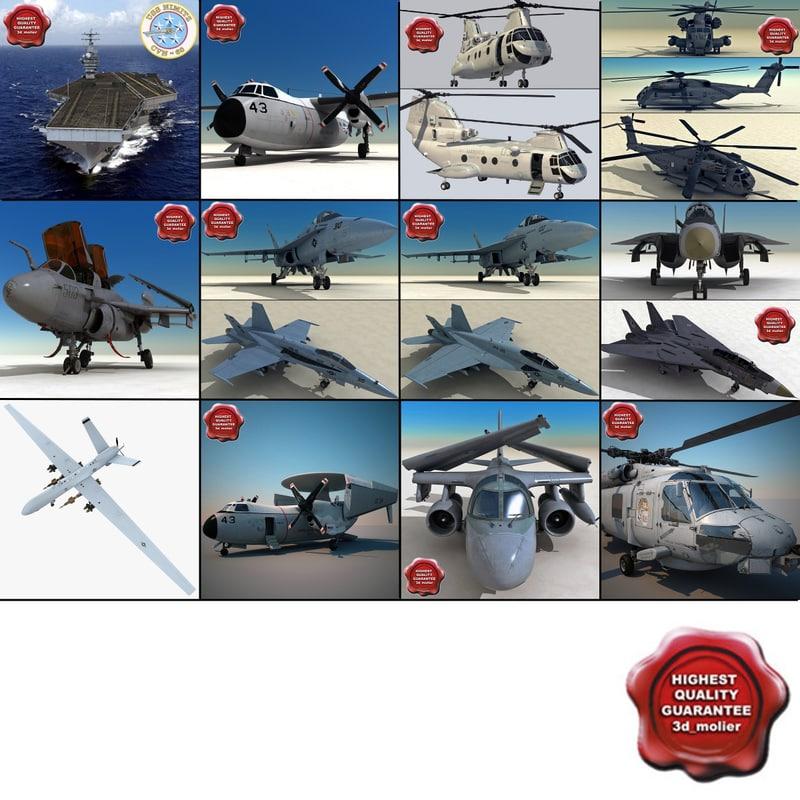 aircraft carrier 5 3d model