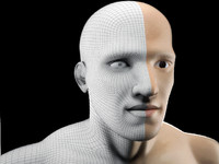 human head man 3d model