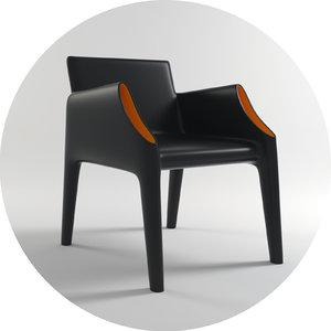 philippe starck kartell chair 3d model
